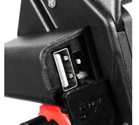 SOPORTE CELULAR USB (VOLANTE Y ESPEJO) NEGRO