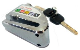 CANDADO DISCO ALARMA CROMADO 7 MM (PC1404)